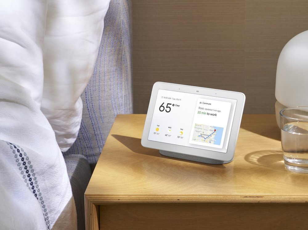 Google Home Hub is the company's first-ever smart speaker with a screen. (Courtesy of Google)