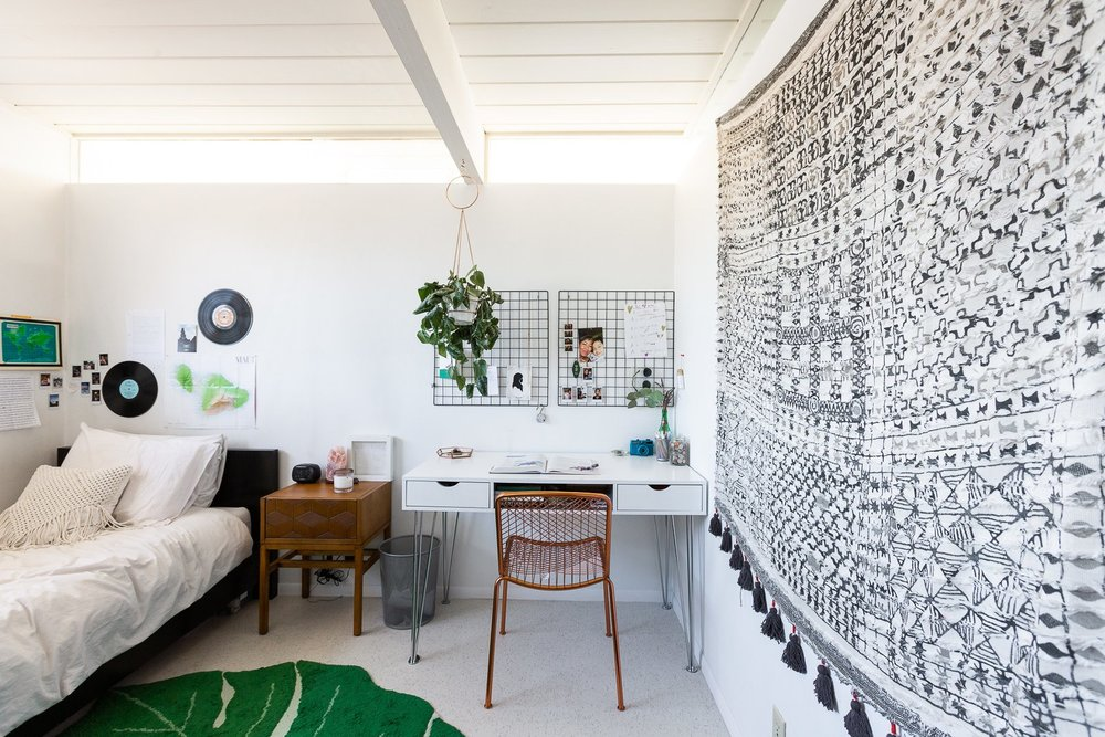 Airis, 14, has her own room room that's just as stylish as the rest of the house with modern boho vibes. (Gillian Walsworth)