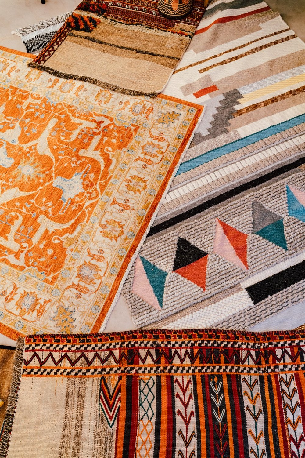 """""""Patterns, texture, and fabrics all speak to me. Whether it be rugs, throw pillows, or luxurious bedding—lovely fabrics are my happy place."""" (Tim Melideo)"""