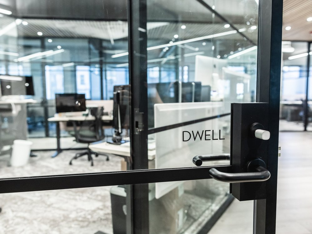The entrance to Dwell's private office space. (Sothear Nuon)