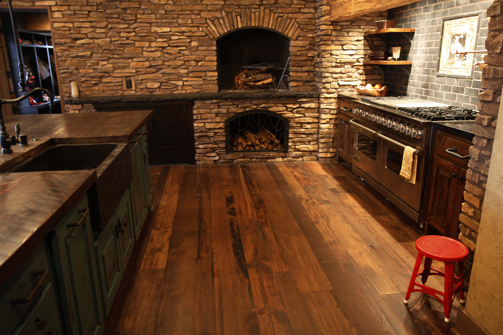 Reclaimed Poplar Flooring