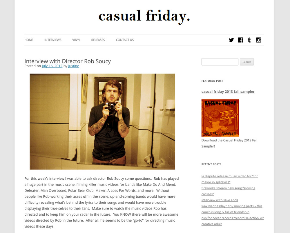 CASUAL FRIDAY   //  Interview