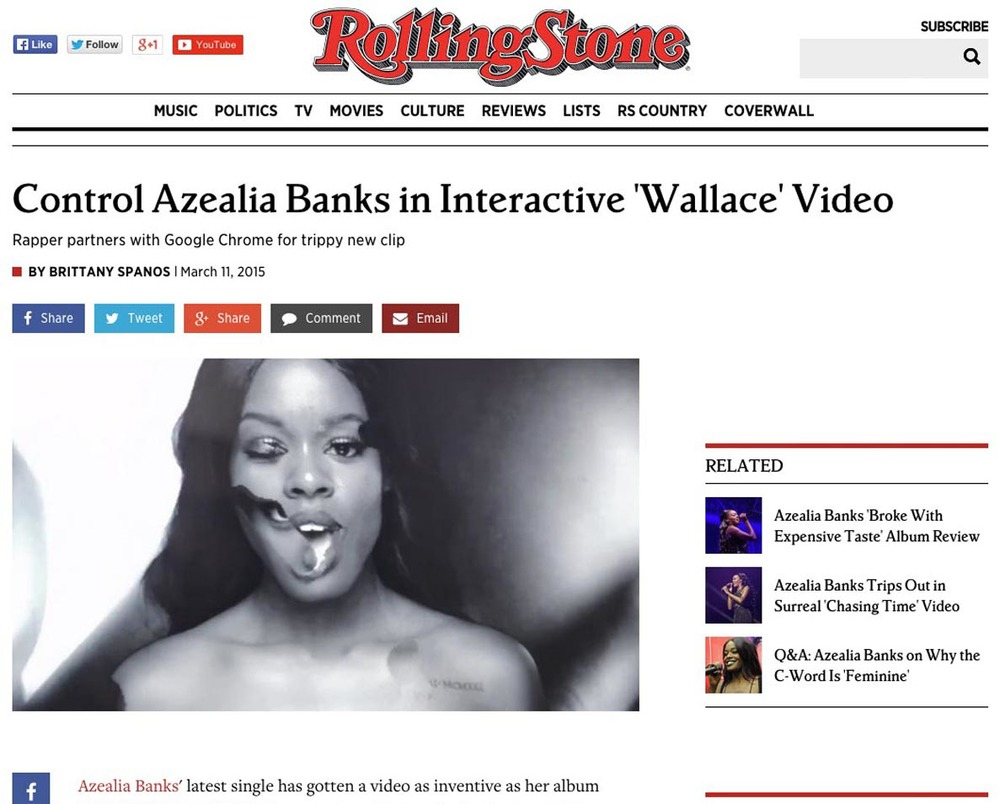 ROLLING STONE MAGAZINE     //    Featured