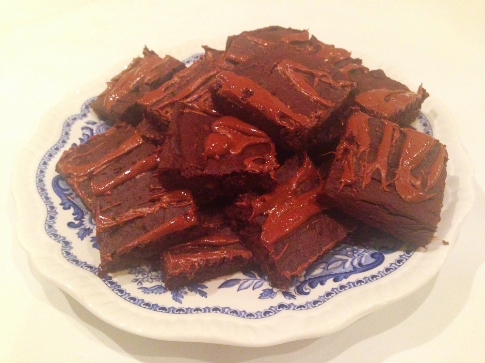 Peanut butter sweet potato brownies