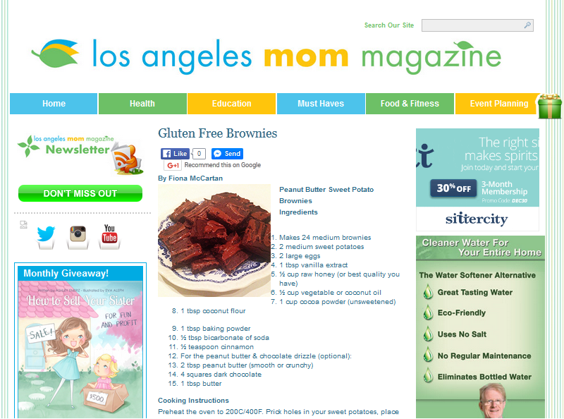 Los Angeles Mom Magazine  February, 2015