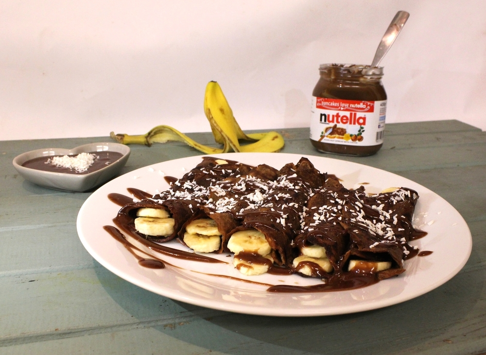 Grainless Chocolate and Banana Crêpes