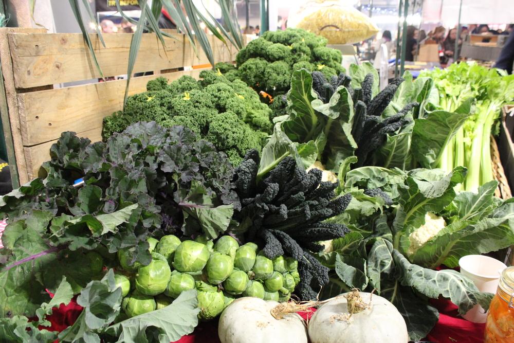 Green, leafy organic veggies
