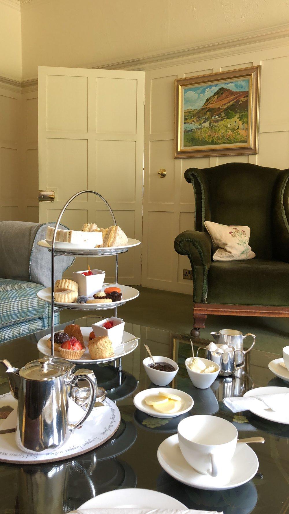 Gluten free afternoon tea in Knockinaam Lodge