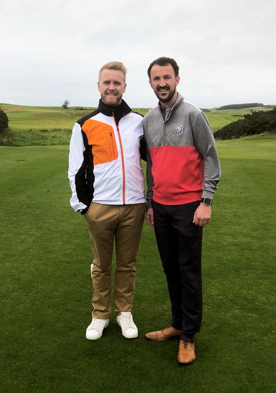 Andy with Chris Robinson (Portpatrick Dunskpey's Pro)