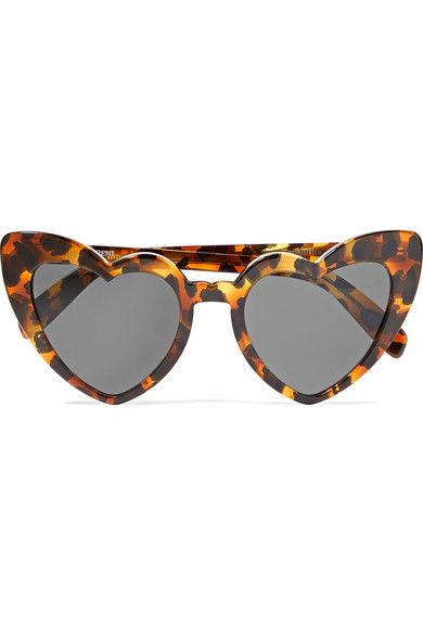 Loulou Heart Frame Sunglasses, Saint Laurent, £275