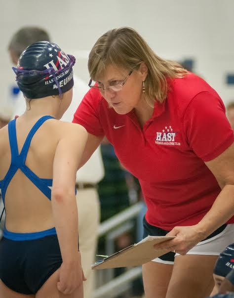 Kim Olson, Head Swim Coach, Hastings Area Swim Team