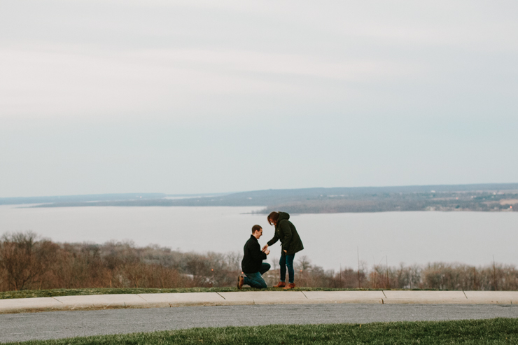 surprise proposal by meredith washburn photography