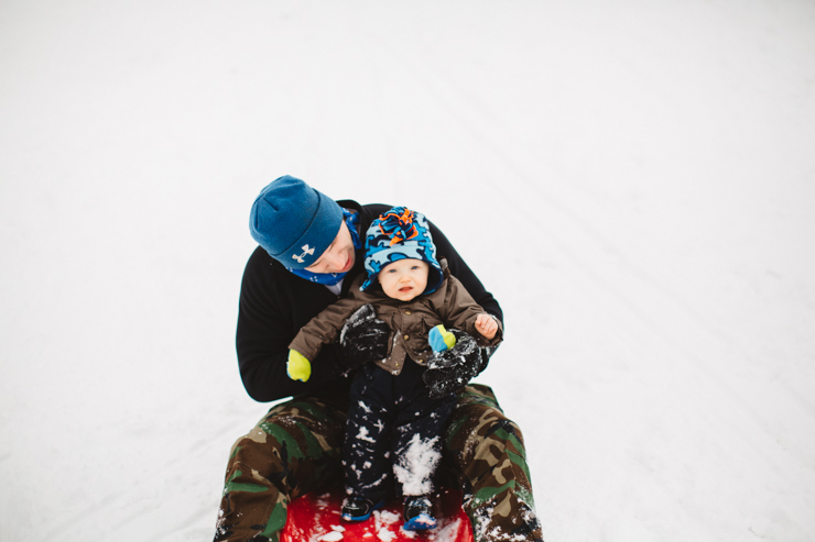 baby's first sledding