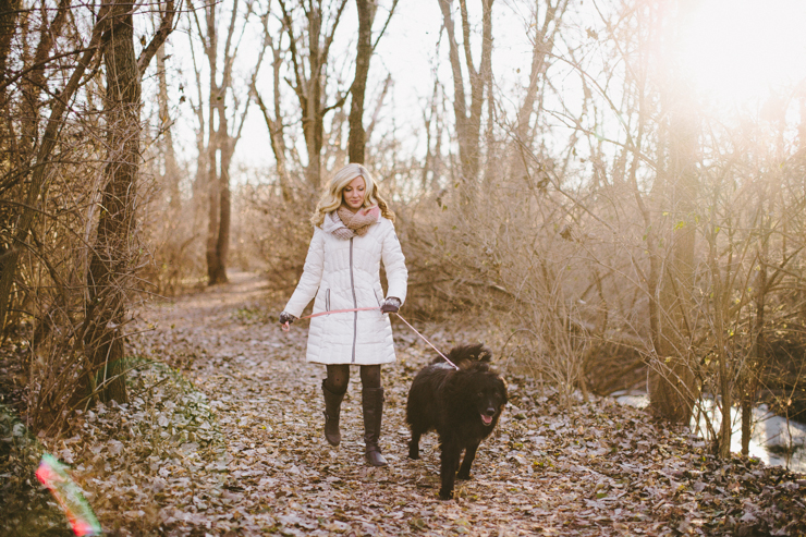 Senior photography with dog