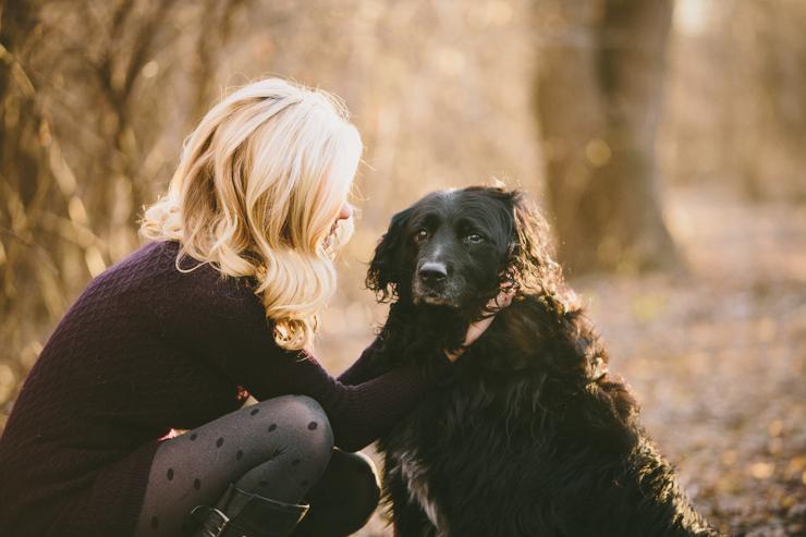 Senior girl photography with dog