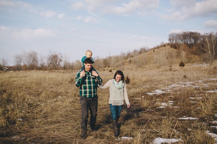 family photos winter snow