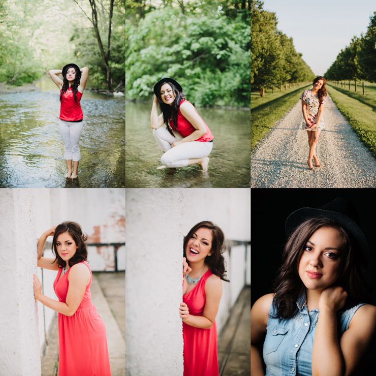 senior girl photography by meredith washburn
