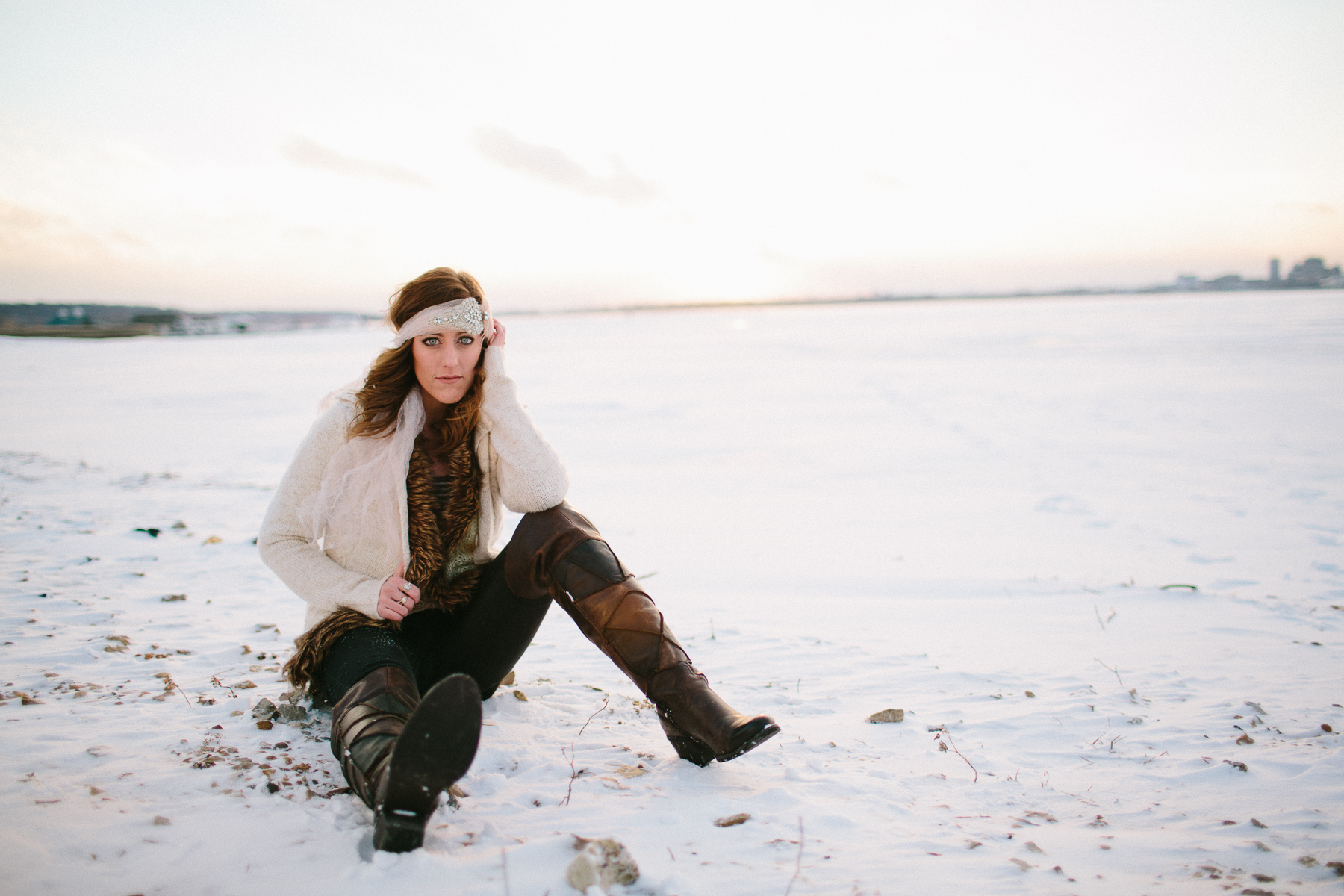 girl portraits in the snow