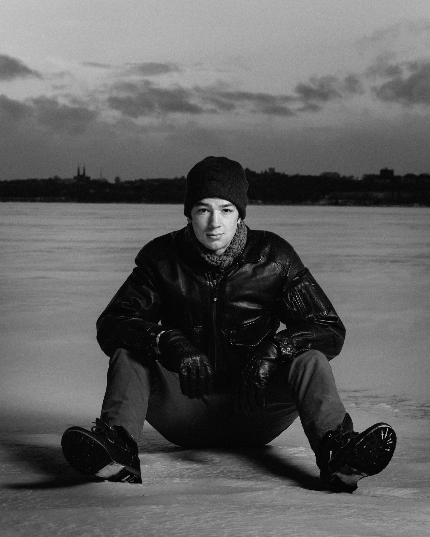 male winter portraits