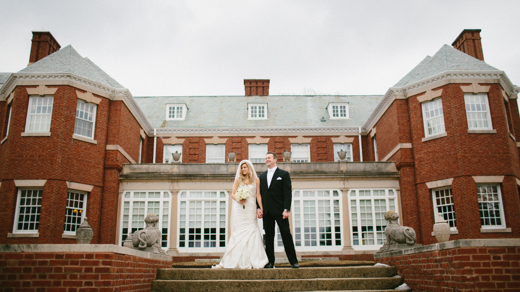 bride and groom allerton mansion
