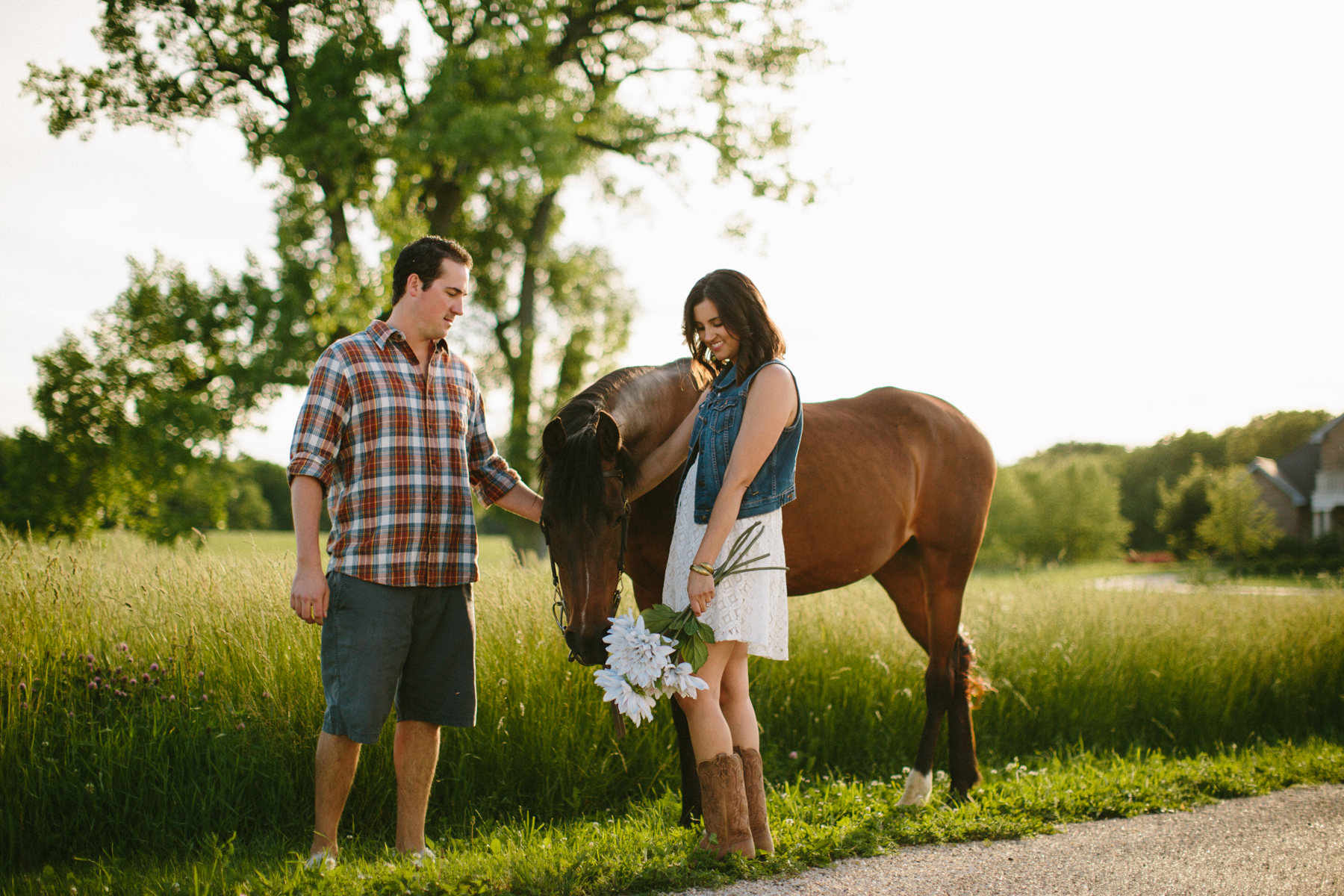 horse ranch engagement session