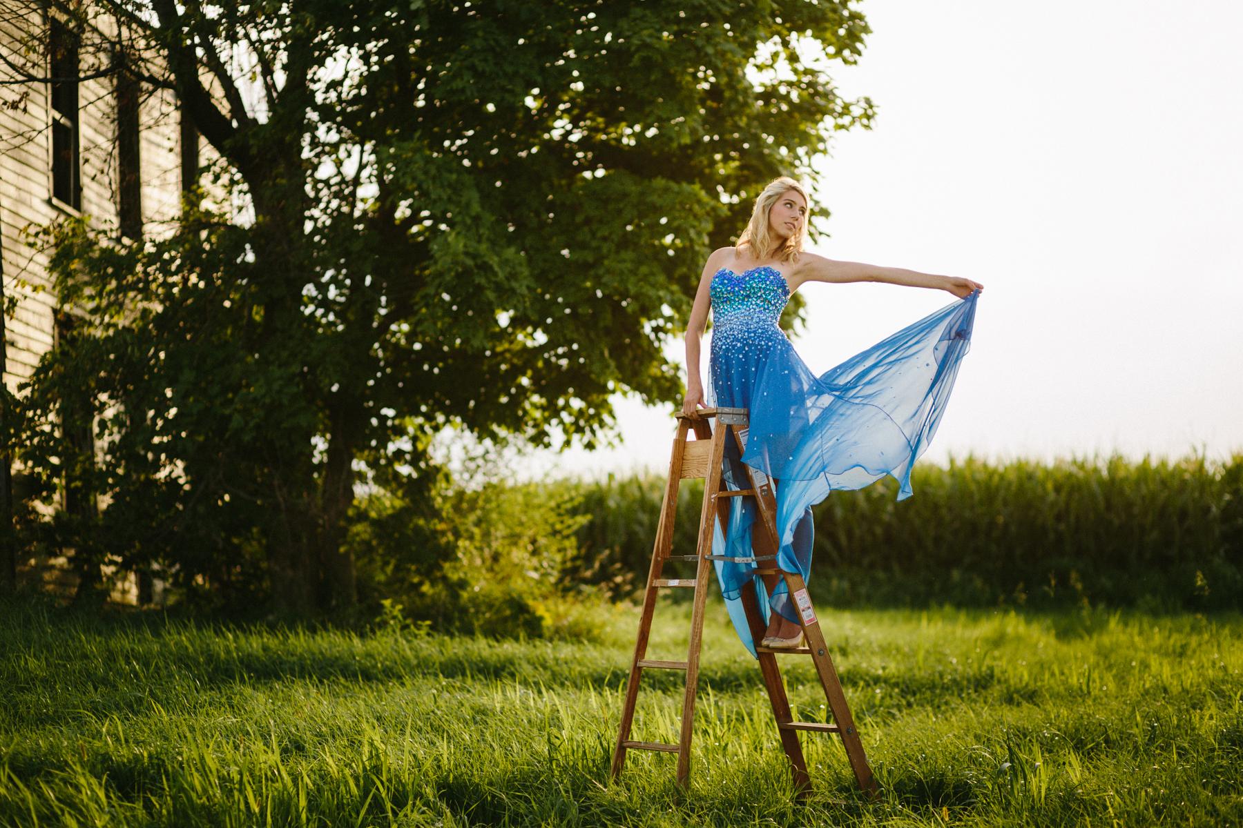 girl blue dress photography modeling