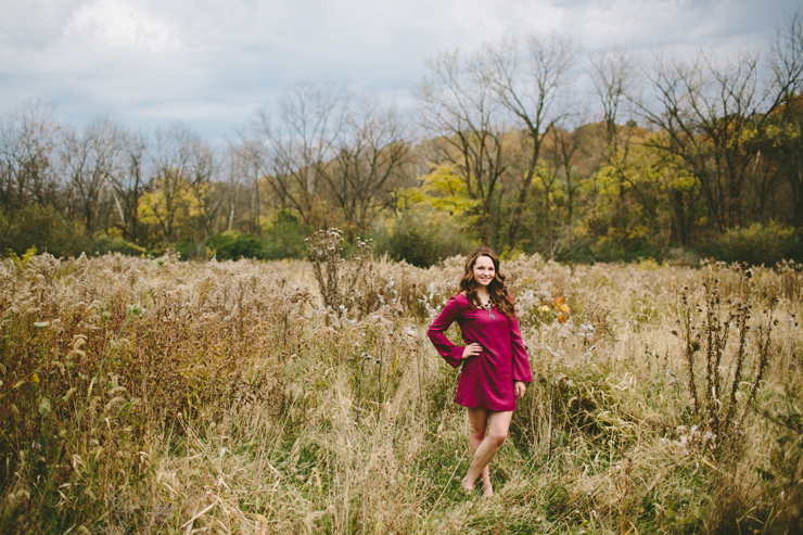 fall senior girl photography by meredith washburn