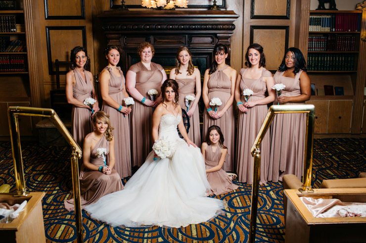 Formal Bridal Party Portrait
