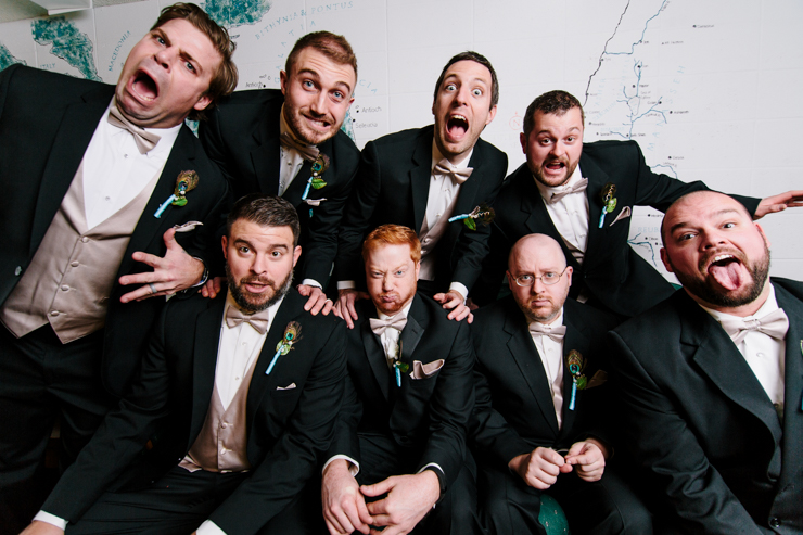 Silly Groomsmen Photo