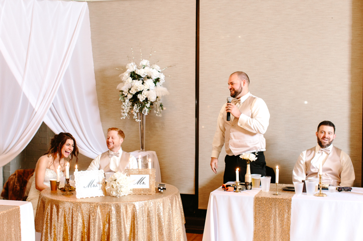 Best Man Giving Wedding Toasts