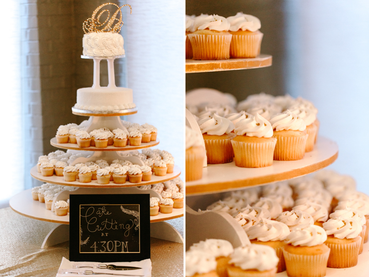 Cupcake Tower at Wedding Reception