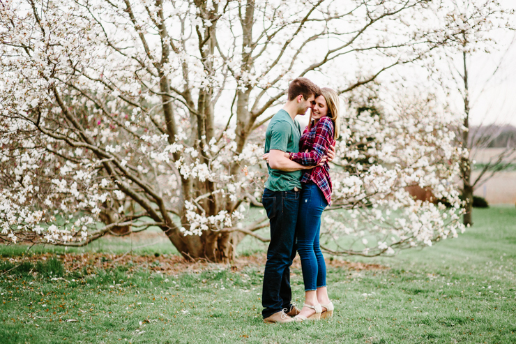 Engagement photography in Spring Flowers Peoria Illinois
