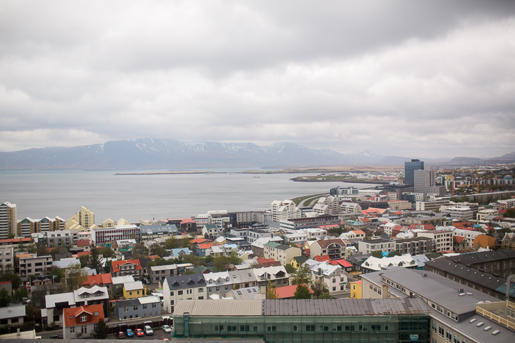 View of Reykjavik from Hallgrimskirkja Church