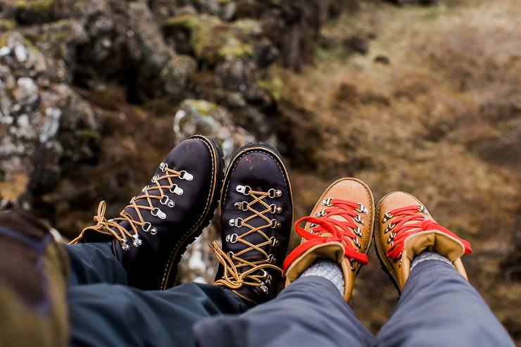 Danner boots in Pingvellir National Park, Iceland