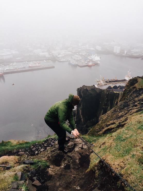 Heimaklettur climb