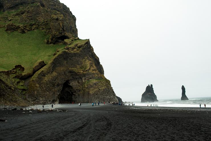 Reynisfjara black beach near Vik, Iceland basalt columns