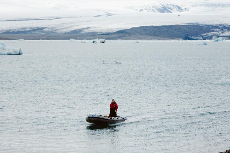 Boat tour Jokulsarlon Glacier Lagoon, Iceland