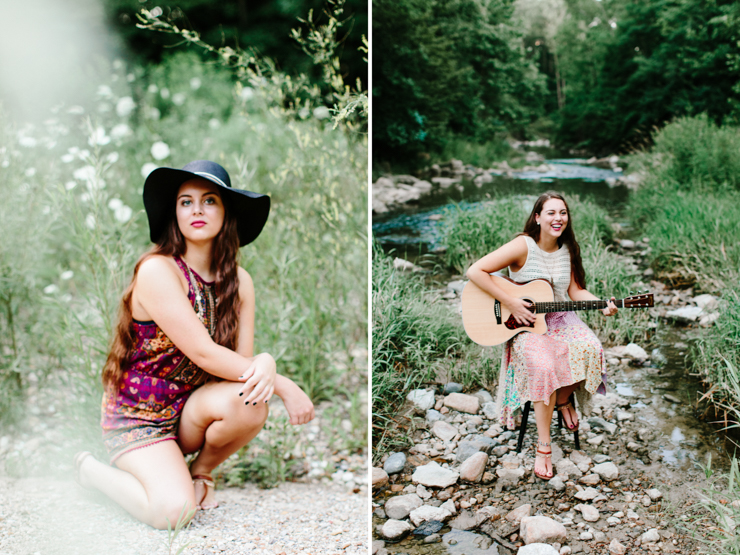 Midwest Senior Girl Photography Session in a creek