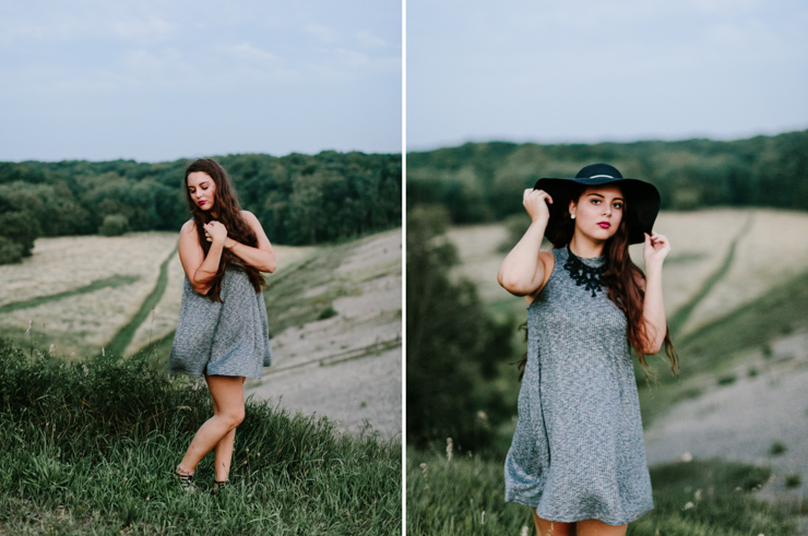 Senior Girl Photography session on a mountain hillside