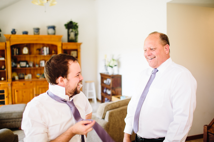 Groom and his Father on his wedding day