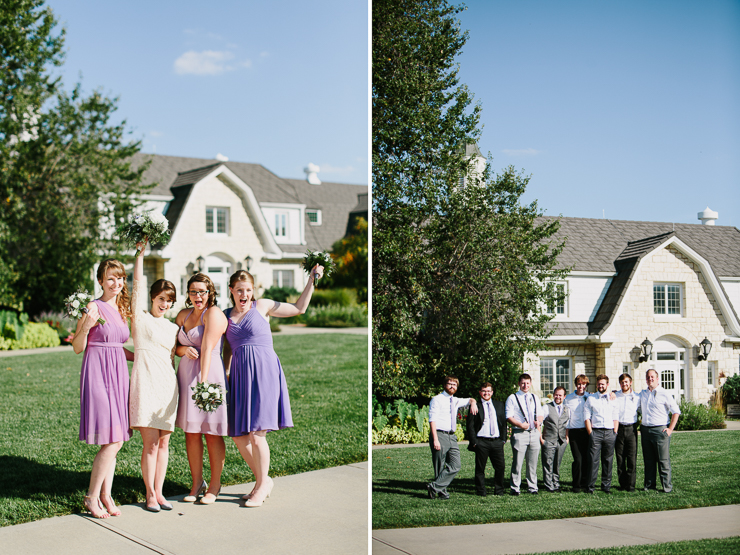 Bridal Party Outdoor Garden Wedding