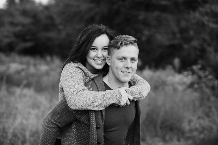 Engagement Photos in a field