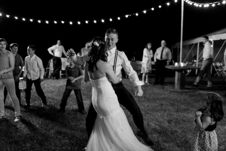 dancing outdoor wedding reception
