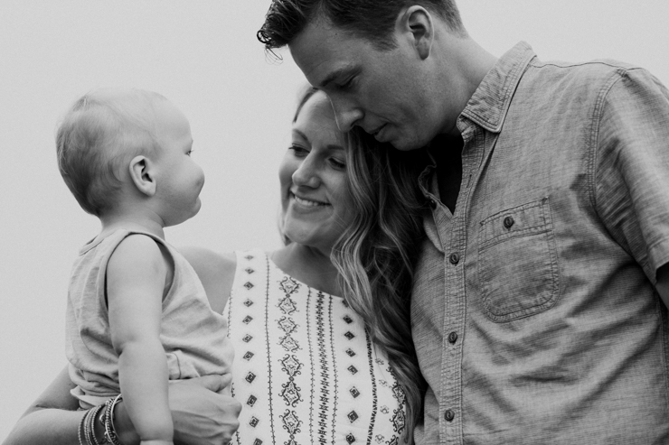 Lifestyle family of three photography The Pinery Colorado