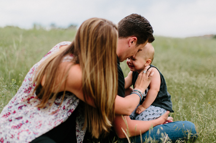 Family of three lifestyle photography in Colorado
