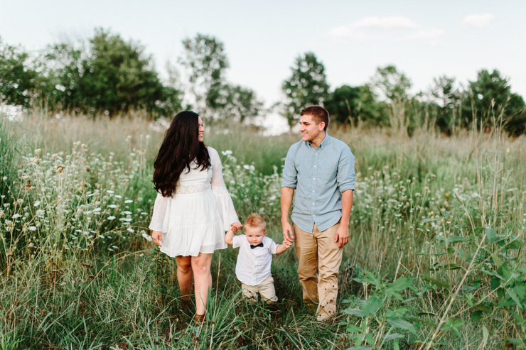 High School Sweethearts Enggement Session featuring their baby boy Tucker