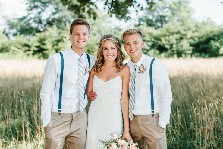 Bride with her brothers