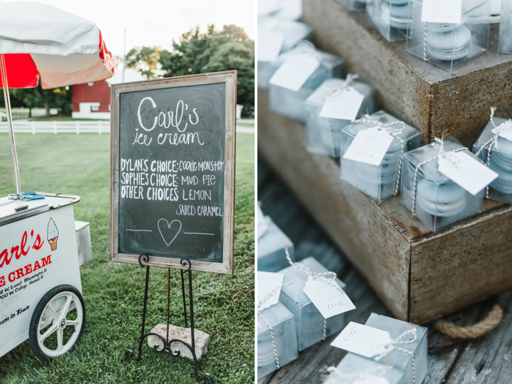 Wedding reception catered by Carl's Ice Cream in Illinois