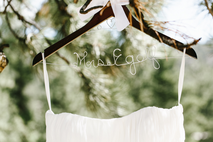 Mrs. Egolf wire wedding hanger