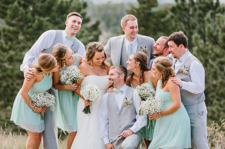 Bridal Party photography in the mountains at YMCA of the Rockies, Overlook Chapel Colorado